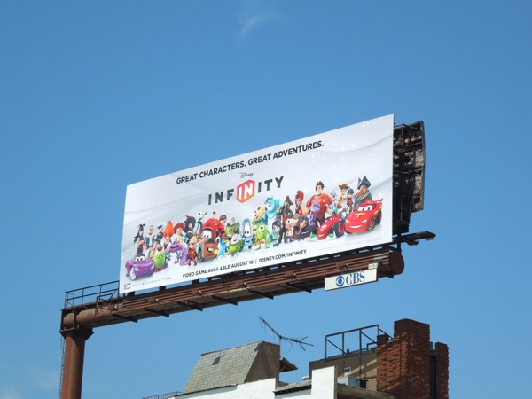 Disney Infinity game billboard