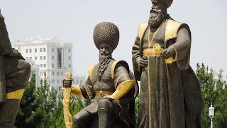 Giant statue in Ashgabat