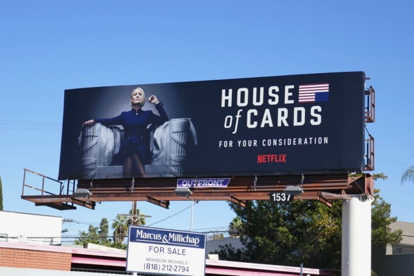 House of Cards season 6 FYC billboard