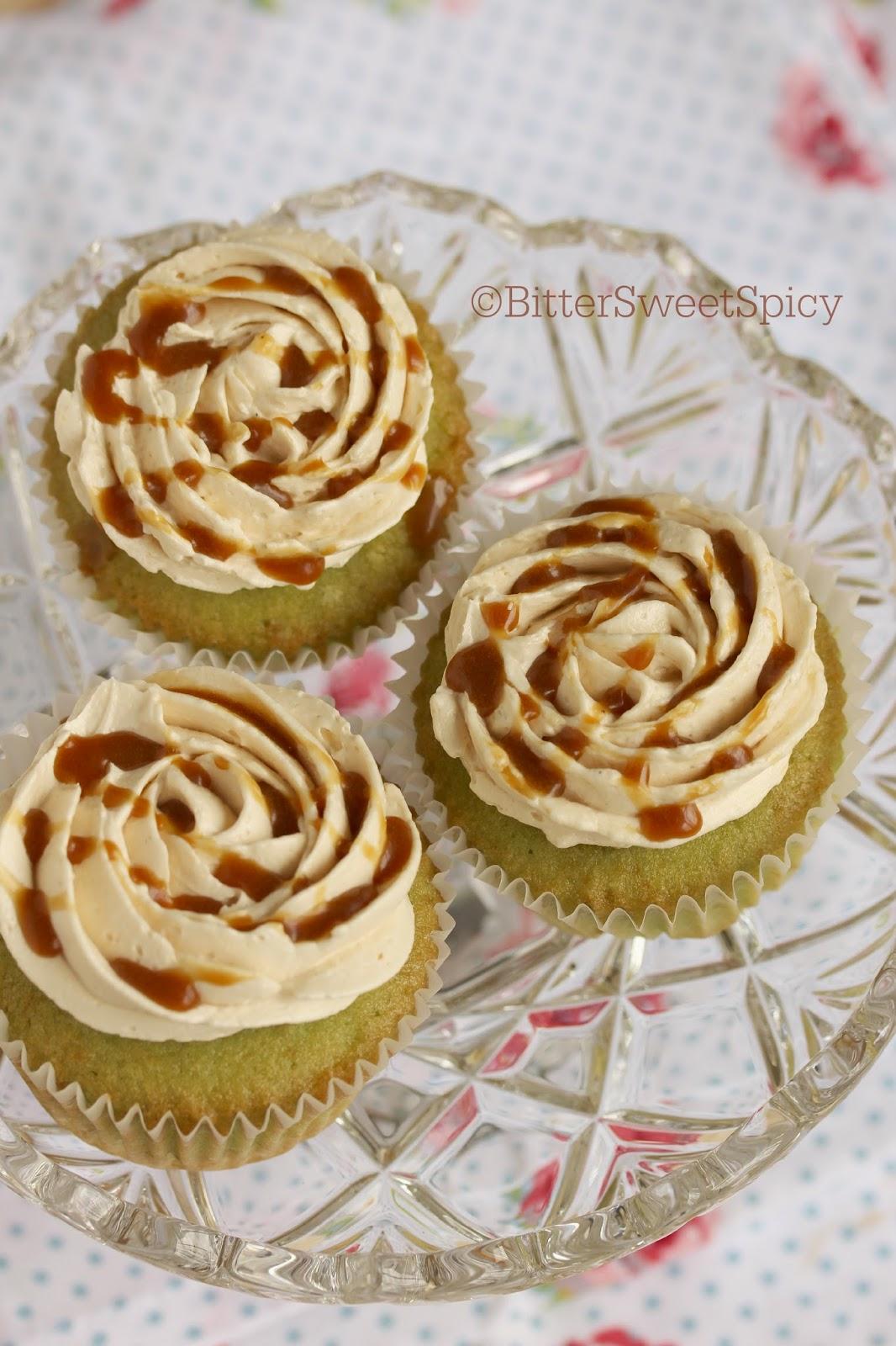 Bittersweetspicy Pandan Cupcakes With Gula Melaka Frosting