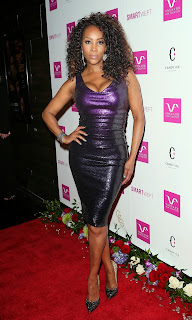Vivica A Fox Purple Sequin Dress Satin Lite House