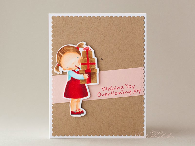 Greeting Card with Overflowing Joy from My Favorite Things by Sweet Kobylkin
