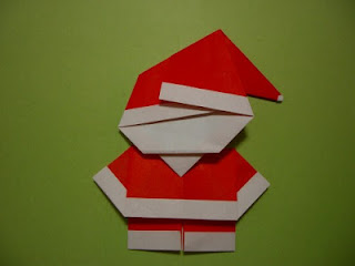 Origami Santa Claus Craft For Kids
