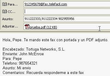 fax avanzado Telefácil