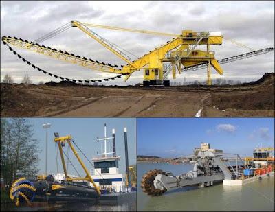 penambangan pasir besi dengan kapal keruk