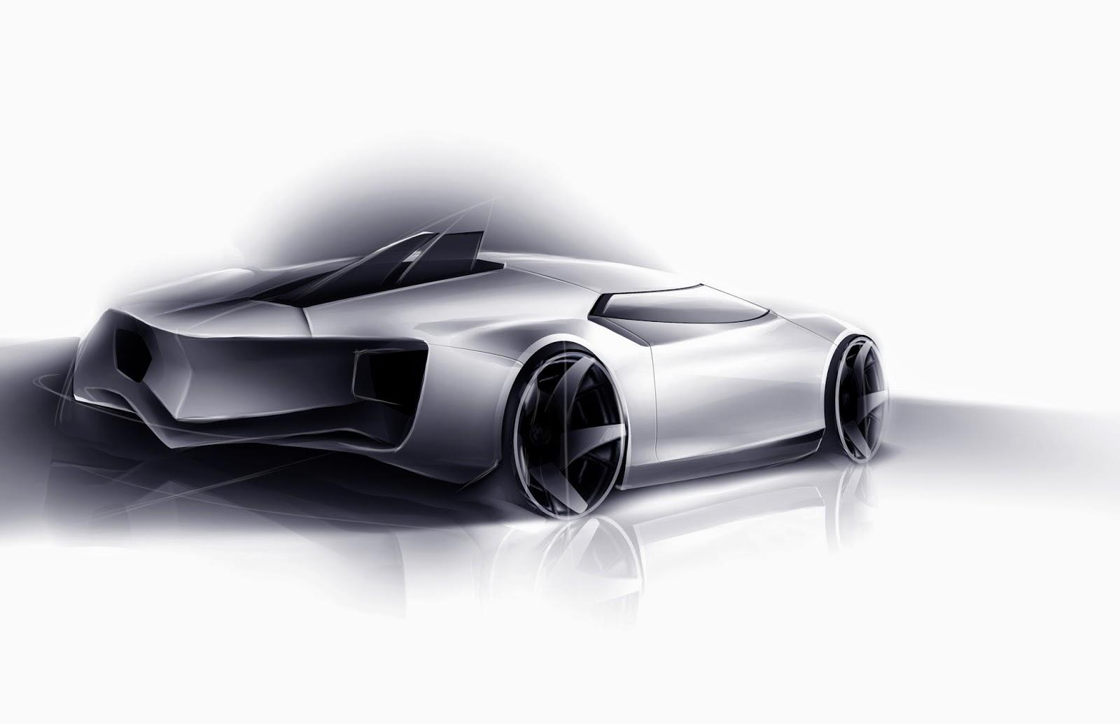 Quick Cadillac Supercar Sketch Eirik Stensrud