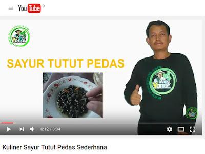 Kuliner Sayur Tutut Pedas