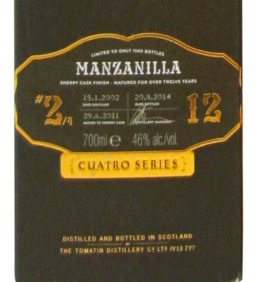 Tomatin Cuatro Manzanilla