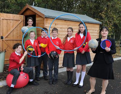 Larkfleet Homes sponsorship Elsea Park School shed