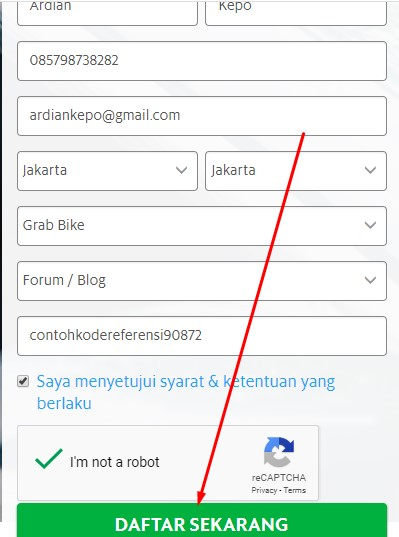 Cara Daftar Grab Lewat Paytren Info Dan Alamat Kantor Grab