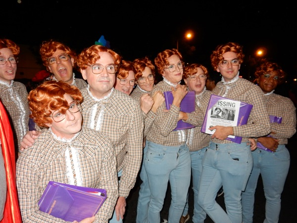 West Hollywood Halloween Stranger Things Barb group costumes
