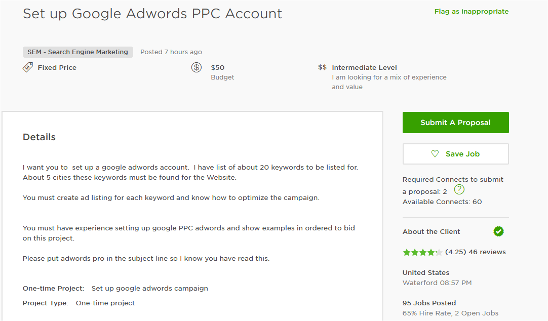 Cover Letter Sample For AdWords