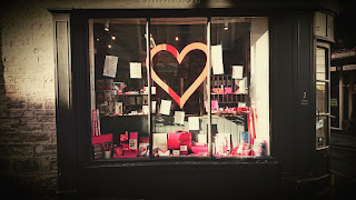 Bartrums & Co Valentine's Window love letters by Alice Draws the Line