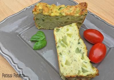 Recette de pain de courgettes, pain de courgettes provençal, courgettes, cuisiner des courgettes, pesto, pistou, basilic, apéritif dînatoire, buffet, légumes, patissi-patatta