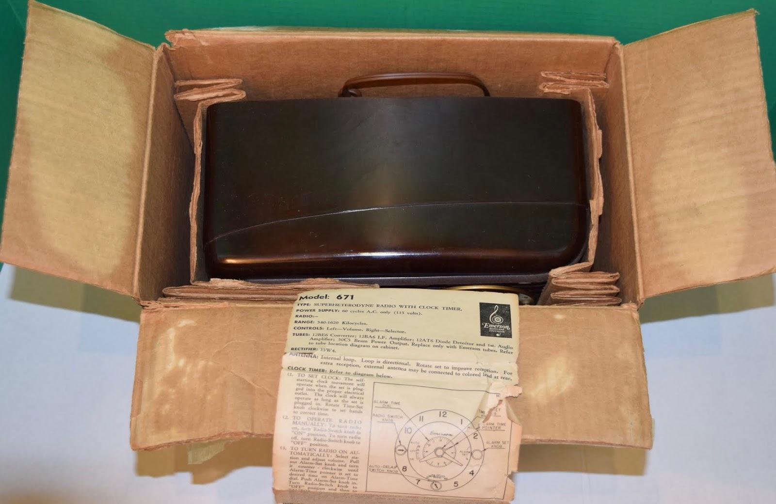 Americanradiodesign Deco Mid Century Retro Styled Vintage Tan America Timer Wiring Diagram Emerson 671 1950 Clock Radio