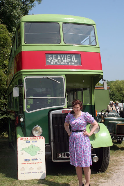Havenstreet Railway 1940's weekend 2013  Seaview Services pd2 bus