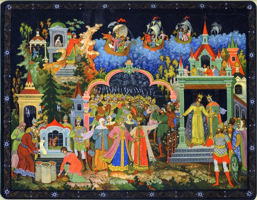 Palekh lacquered miniature 1934