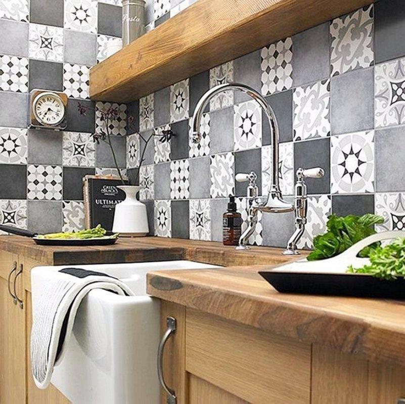 keramik dapur masak terlihat minimalis