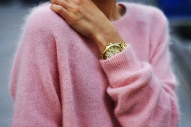 fluffy pink jumper