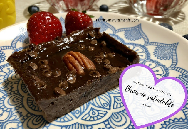 Brownie saludable vegano