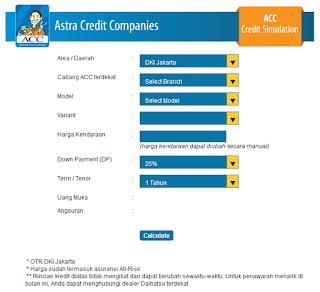 Simulasi Kredit Mobil Daihatsu Astra Credit Companies ACC Credit Simulation Resmi