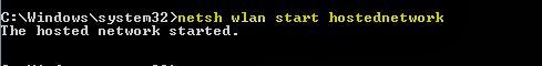 Create Hotspot using command prompt