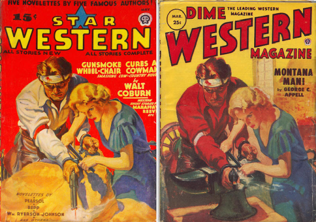 Star Western May 1939 and Dime Western March 1953