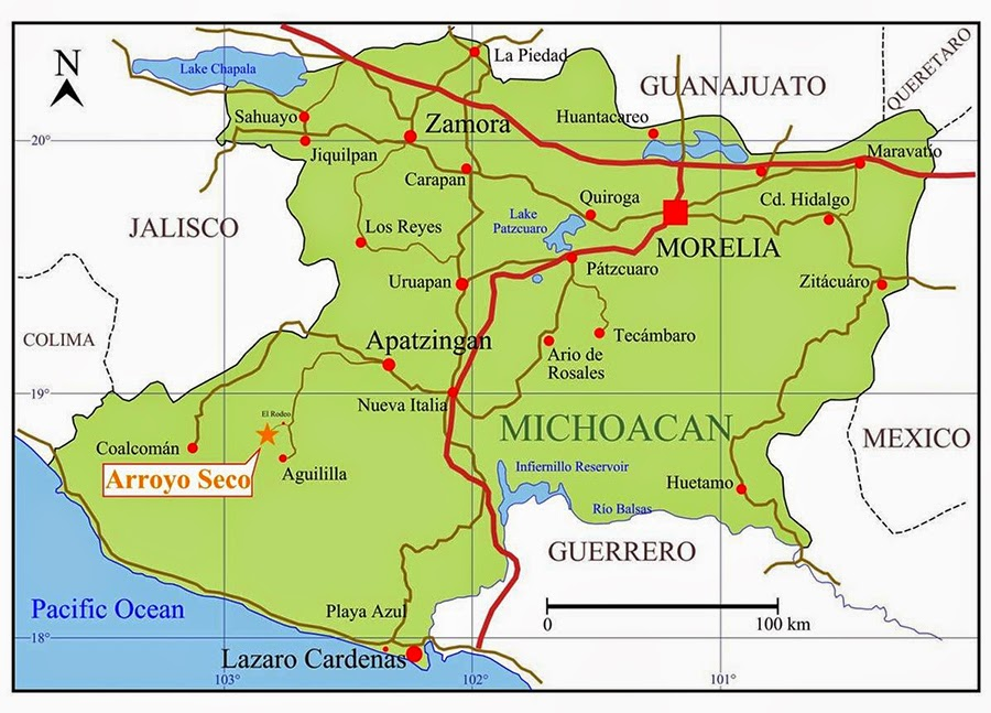 Knights Templar criminals shoot down helicopter in Tierra ...  |Water Maps Michoacan Mexico