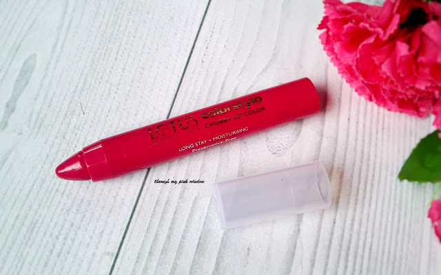 Lotus Colostylo Chubby Lipstick in shade 202 Fuchsia Angel : Review, swatch and LOTD