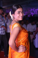 Shalini Pandey in Beautiful Orange Saree Sleeveless Blouse Choli ~  Exclusive Celebrities Galleries 009.JPG
