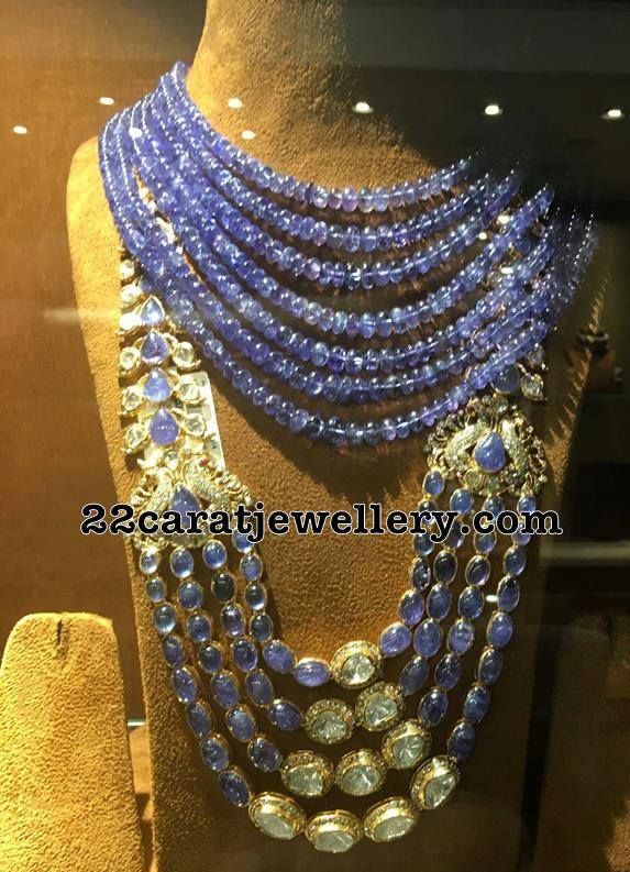 Blue Sapphire Beads and Stones Sets