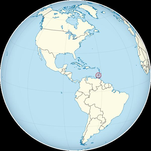 Letak negara Grenada