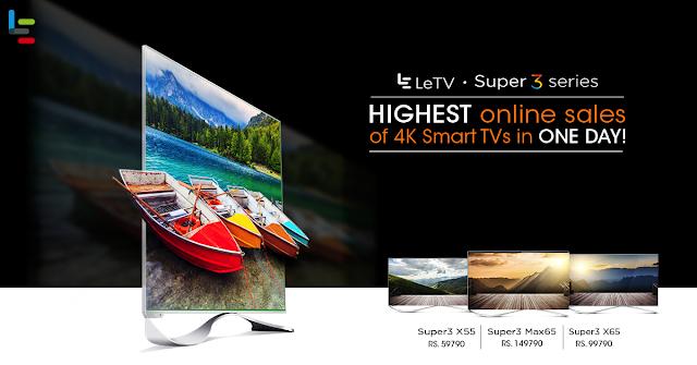LeEco's Super3 EcoTVs grab the No.1 Spot in TV Industry