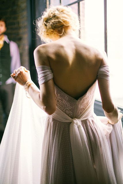 Weddings Gorgeous off-the-shoulder gown