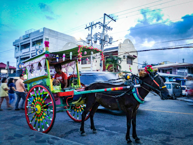 kalesa, colorful carriage, dumaguete tourism