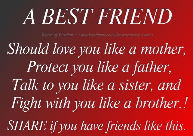 Daveswordsofwisdom.com: A Best Friend