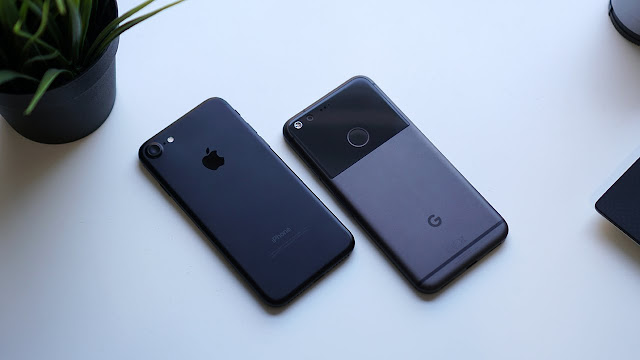 Comparison Among Google's Pixel & Pixel XL and Apple's iPhone 7 & 7 Plus