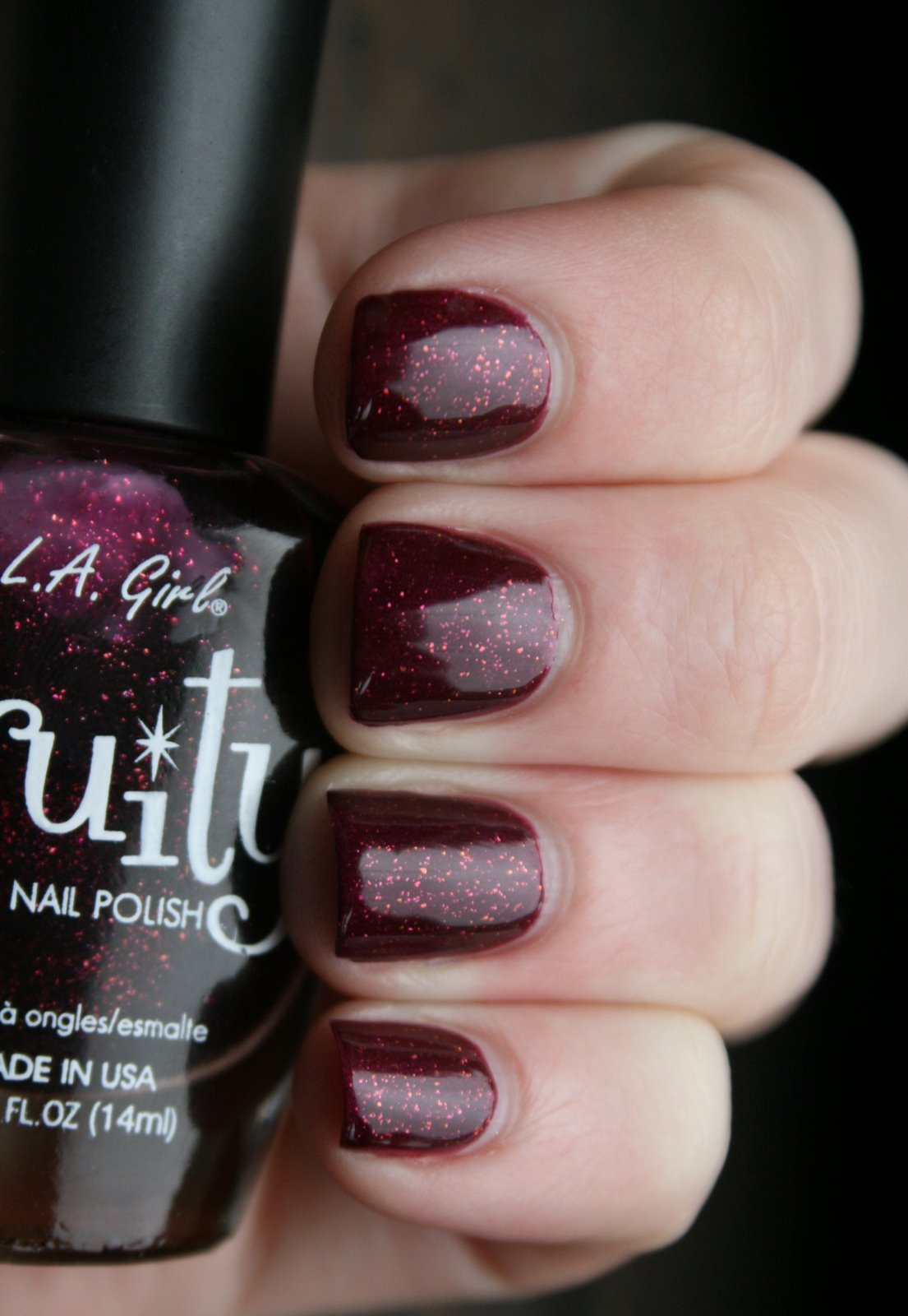 LA Girl Fruity Blissful Blackberry swatch