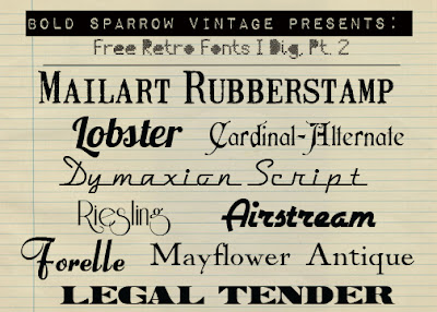 Vintage Cursive Fonts