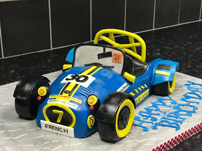 Extremely realistic cake version of my 2017 Caterham Academy Car