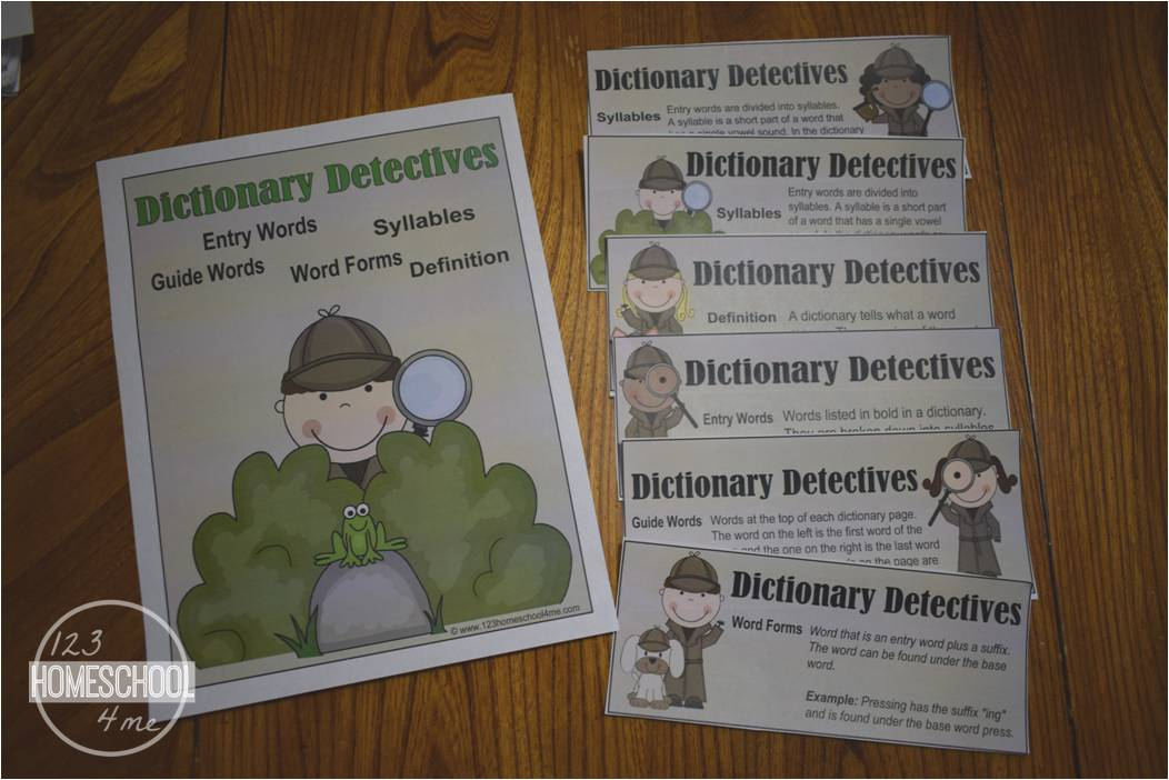 Dictionary Detective Worksheets for Kids – Dictionary Guide Words Worksheet