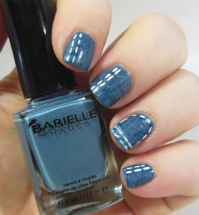 Did My Nails: Denim Nail Art