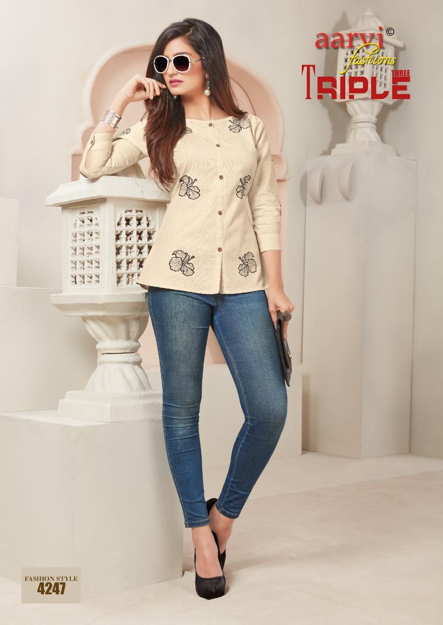 ce7eebec81 Aarvi fashion Triple 3 vol 2 Western tops wholesale - Diwan fashion