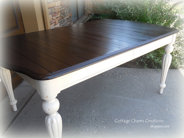Cottage Charm Creations Painting A Two Tone Table