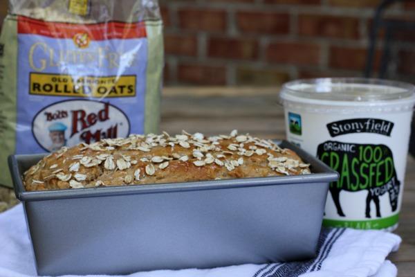 Honey Oat Yogurt Quick Bread