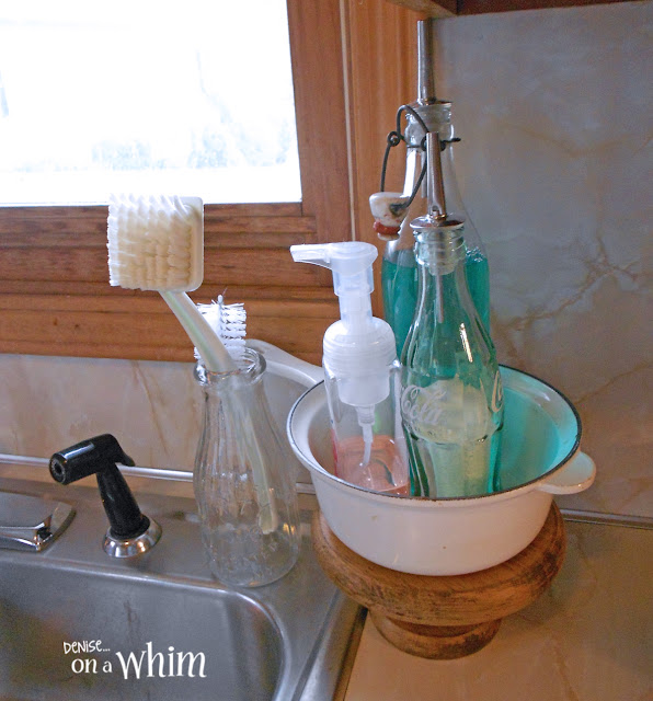 Vintage & Repurposed Kitchen Soap Station | Denise on a Whim