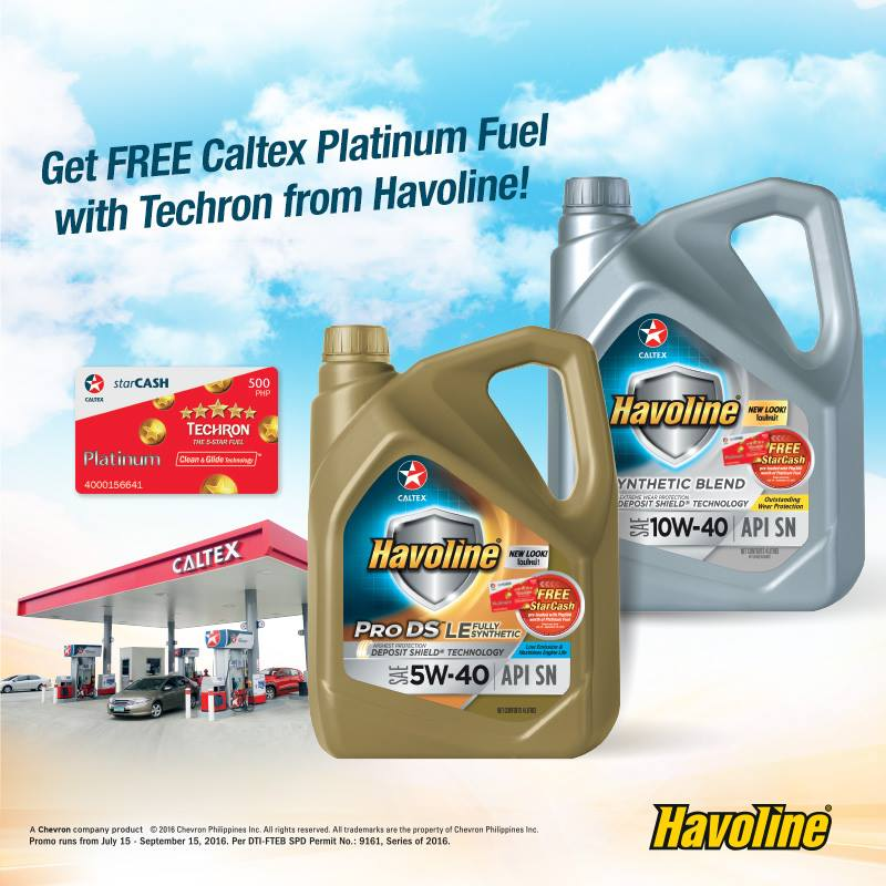 Get FREE Caltex Platinum Fuel with Techron from Havoline