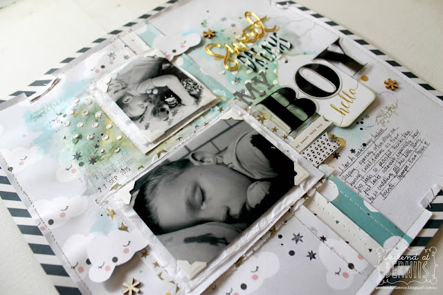 """"""" Sweet Dreams"""" layout by Bernii Miller for Sugar Maple Paper Co using the It's Raining Men kit."""