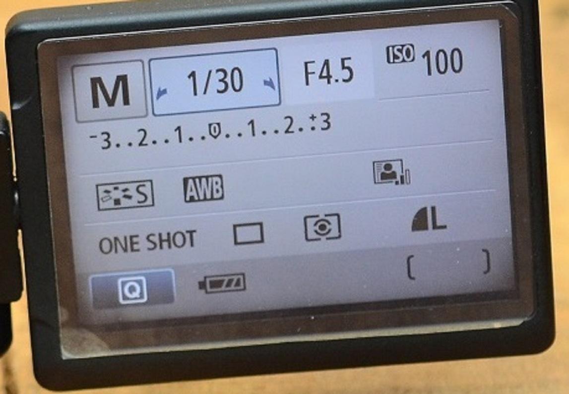 Vignet pada Layar Kamera