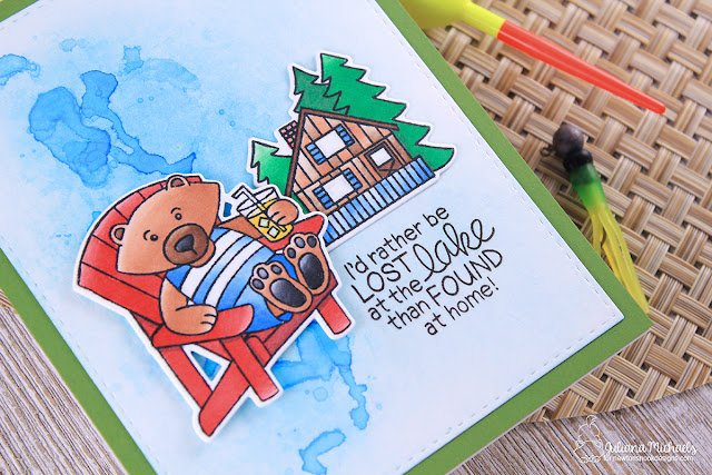 Lost At The Lake Card by Juliana Michaels featuring Winston's Lake House Stamp Set by Newton's Nook Designs
